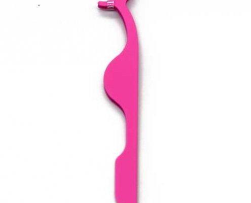 pink eyelash tweezers