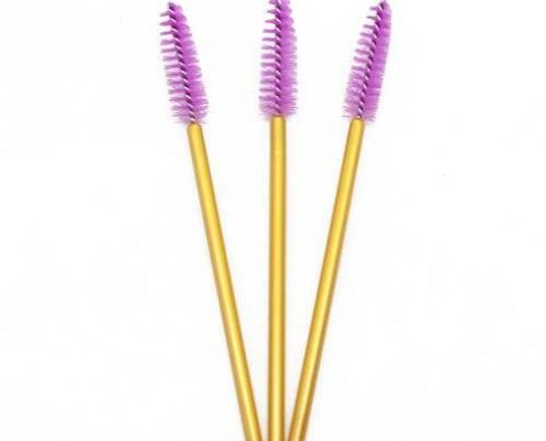 Light purple head yellow rod eyelash brushes
