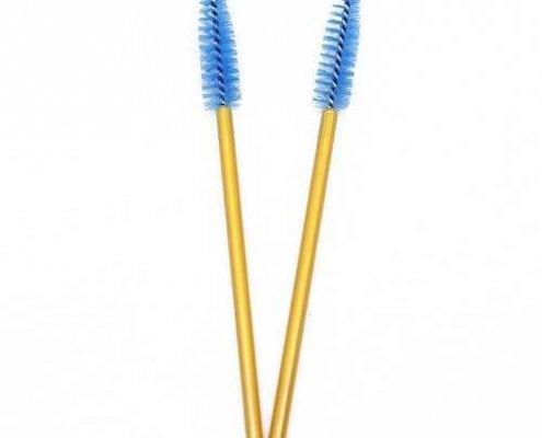 Blue head yellow rod eyelash brushes