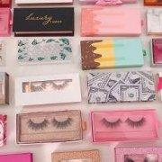 wholesale mink lashes and eyelash packaging box