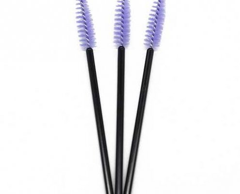 Purple head black rod eyelash brushes