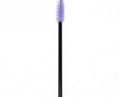 Purple head black rod eyelash brushes